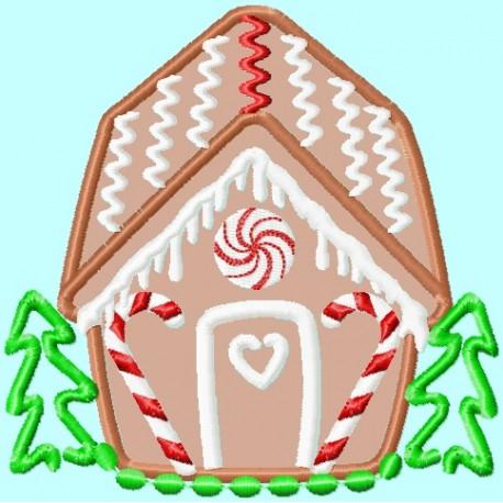 cute gingerbread house lunastitches com