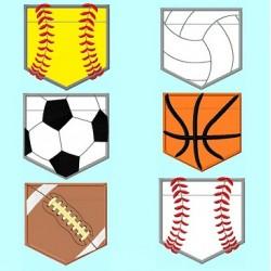 6 Sports Balls Pocket shape