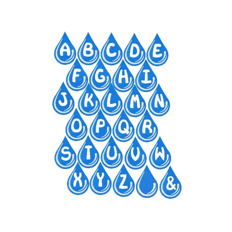 water drops fonts