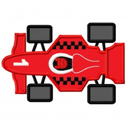 Red Race Car Top View