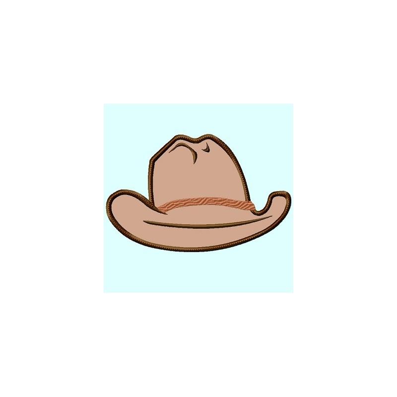 cowboy hat front view lunastitchescom