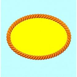 Oval Rope Border Frame