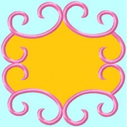 Pink Applique Monogram Frame