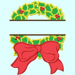 Split Christmas Wreath