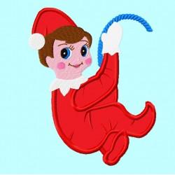 Cute Elf Hanging or Climbing