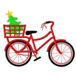 Red Bicycle with Christmas Tree 2nd version