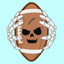 Football Bones Pumpkin Face