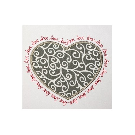 Heart Frame with LOVE border
