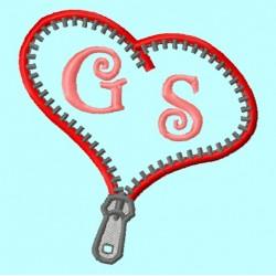 Heart Zipper border