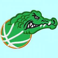 Gator Mascot on Basketball