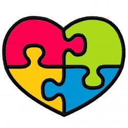 Puzzle Heart Applique Embroidery Design
