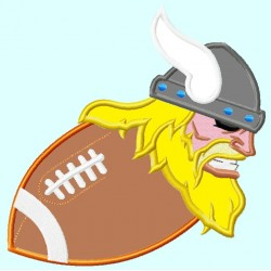 Viking Mascot on Football