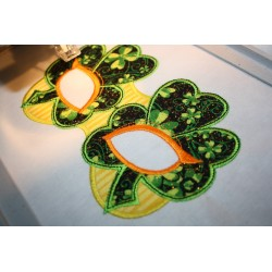 Shamrock Clover Leaf Mask In The Hoop