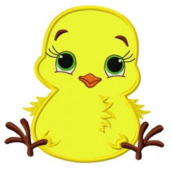Cutest Baby Chicken Applique Embroidery Design