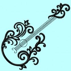 Elegant Guitar Outline