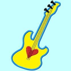 Heart Blue Guitar