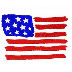 US Flag fill Embroidery Design