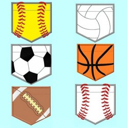 6 Sports Balls Pocket shape