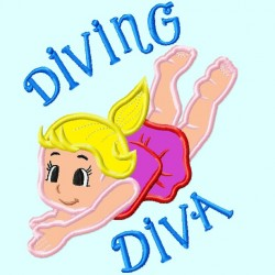 Diving Dive Swimmer Girl