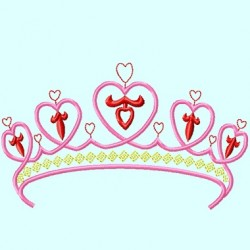 Princess Tiara Crown with hearts