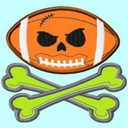 Football Skull Crossbones Pumpkin