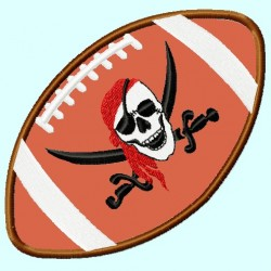 Pirate Skull Football