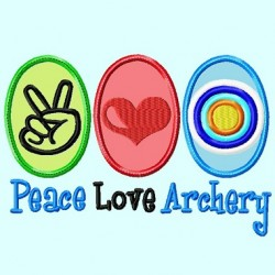 Peace Love Archery APPLIQUE Embroidery Design