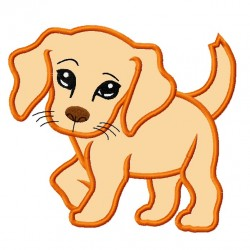Sweet Face Puppy Dog Applique Embroidery Design