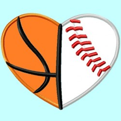 Baseball and Basketball Heart