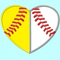 Baseball and Softball Heart