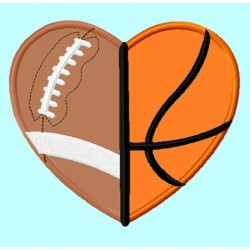 Football Basketball Heart