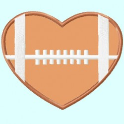 Football Heart Horizontal