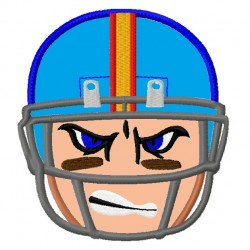 Football Helmet Mad Face