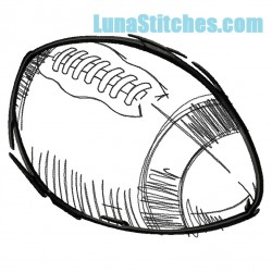 Football Sketch Easy Stitch