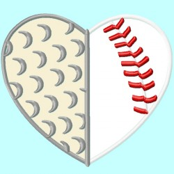 Golf Baseball Softball Heart