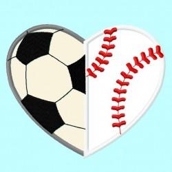 Baseball Soccer Heart