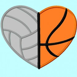 Volleyball Basketball Heart