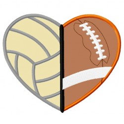 Volleyball Football Heart