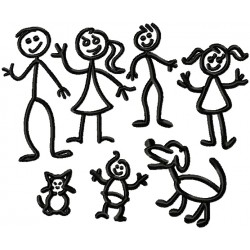 Stick People Family