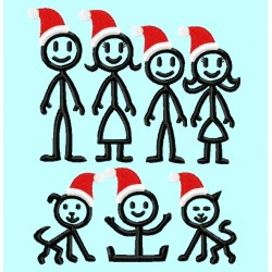 The Stick People Santa Family