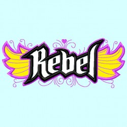 Rebel Word with Wings