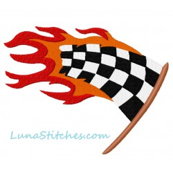 Checkered Flag Flames