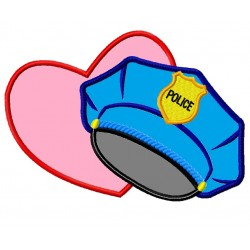 Police Hat Heart