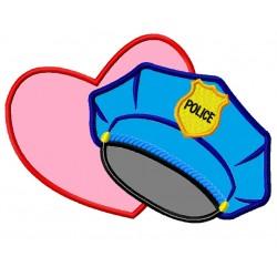 Police Hat Heart