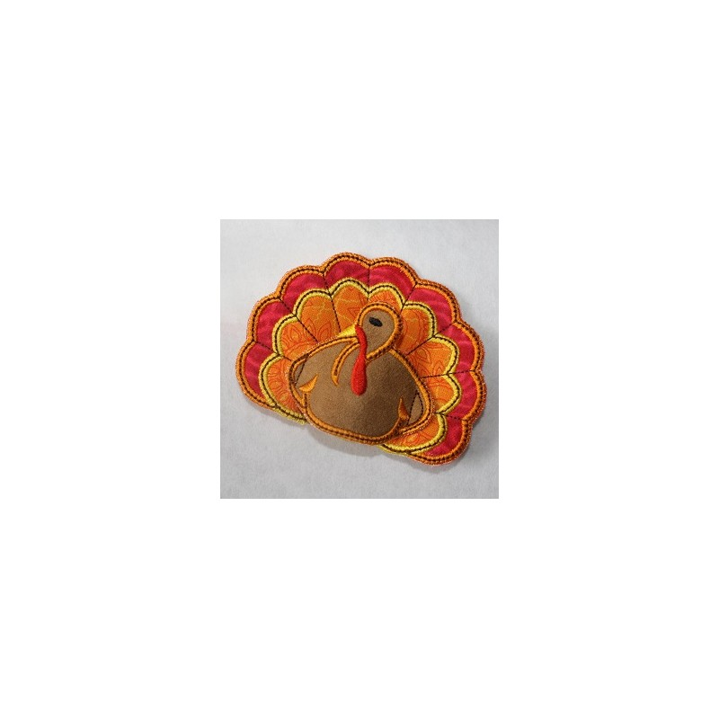 turkey napkin holder  in the hoop embroidery applique design