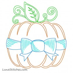 Pumpkin Bow Sketch