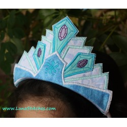 Snow Queen Crown In The Hoop Embroidery Applique Design