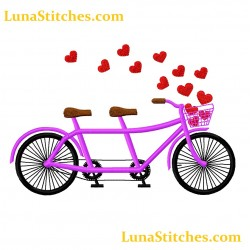 Couple Biclycle Hearts