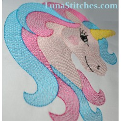 Unicorn Light Stitches Embroidery Design
