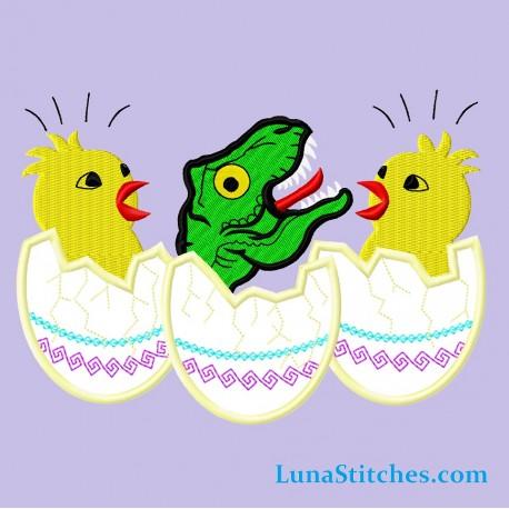 TRex Dinosaur and Chicken Easter Eggs